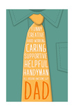 Fathers Day Tie Prints by Caitie Harris