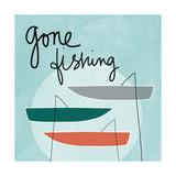 Gone Fishing Kunstdrucke von Linda Woods