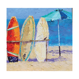 Resting on the Beach II Posters by Leslie Saeta