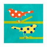 Orange and Yellow Bird Kunstdrucke von Linda Woods