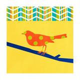 Orange Bird Poster von Linda Woods