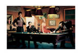 Legal Action: Presley, Monroe, Bogart und Dean beim Billard Poster von Chris Consani