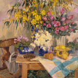 Garden Table Prints by Allayn Stevens