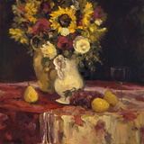 Sunflowers and Wine Prints by Allayn Stevens