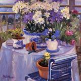Purple Balcony Prints by Allayn Stevens