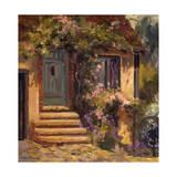 Floral Cottage Poster by Allayn Stevens