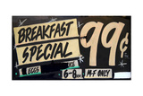 Grungy Breakfast Sign Posters par Mr Doomits