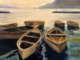 Sunset Marina Art by Allayn Stevens