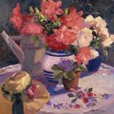 Kettle Hat and Flowers Art by Allayn Stevens