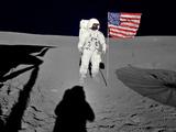 NASA Astronaut Spacewalk Moon Photo Poster Print Kunstdrucke