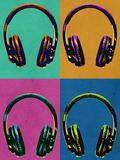 Headphones Vintage Style Pop Art Poster Posters