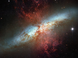Happy Sweet Sixteen Hubble Telescope Starburst Galaxy M82 Space Photo Art Poster Print Posters