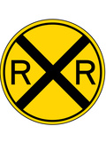 Railroad Crossing Sign Print Poster Kunstdruck