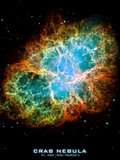 Crab Nebula Text Space Photo Art Poster Print Poster