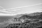 Bixby Bridge in Black and White Reproduction photographique par  Wolterk
