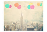 NYC Balloons with Clouds Affiches par Ashley Davis