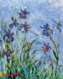 Irises - detail Photo by Claude Monet