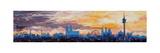 Munich Skyline at Dusk with Alps Kunstdruck von Markus Bleichner