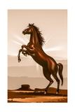 Rearing Horse Illustration Posters par  duallogic