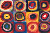 Color Study Squares Plakater av Wassily Kandinsky