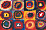 Studio sui quadrati Poster di Wassily Kandinsky