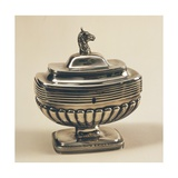 Silver Neoclassical Style Dutch Sugar Bowl with Cover and Lock Giclee Print by Jacob Isaaksz Ruisdael