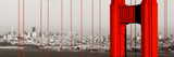 Golden Gate Bridge Closeup Panorama in San Francisco as the Famous Landmark. Reproduction photographique par Songquan Deng