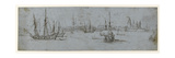 View of Elsinore and Kronborg Castle, a Study of Ships under Sail, 1615-29 Giclée-Druck von Hendrick Cornelisz. Vroom