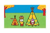 Didou - Louie the Red Indian Poster tekijänä Yves Got