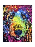 Irish Wolfhound Giclee-trykk av Dean Russo