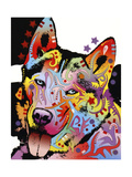 Siberian Husky Giclee Print by Dean Russo