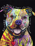 Beware of Pit Bulls Giclee Print by Dean Russo