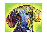 Gravhund Giclée-tryk af Dean Russo