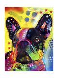 French Bulldog 2 Giclee-trykk av Dean Russo