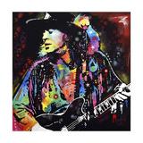 Stevie Ray Vaughan Giclee-trykk av Dean Russo