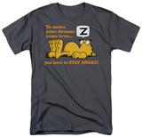 Garfield - Stay Awake T-shirts
