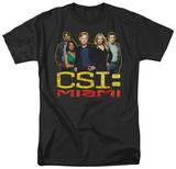 CSI Miami - The Cast In Black T-shirts