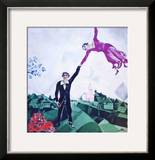 The Promenade Print by Marc Chagall