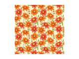 Floral Seamless Pattern with Colorful Flowers Print by  hoverfly