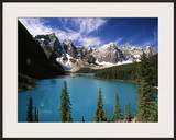 Wenkchemna Peaks Reflected in Moraine Lake, Banff National Park, Alberta, Canada Framed Photographic Print by Adam Jones