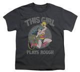 Youth: Wonder Woman - Plays Rough T-shirts