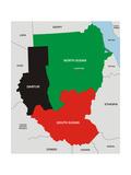Sudan Map Láminas por  tony4urban