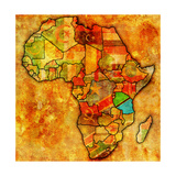 Tanzania on Actual Map of Africa Prints by  michal812