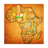 Niger on Actual Map of Africa Plakater af  michal812
