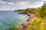Shores of Lake Superior at Gooseberry State Park in Vertical Reproduction photographique par  Wolterk