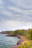 Shores of Lake Superior at Gooseberry State Park Reproduction photographique par  Wolterk