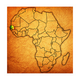 Senegal on Actual Map of Africa Posters af  michal812