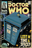 Doctor Who Tardis Comic Pósters