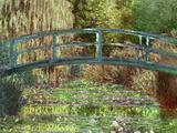 Claude Monet, japanische Brücke in Giverny, Kunstdruckposter Poster