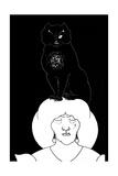 Chat noir Posters par Aubrey Beardsley